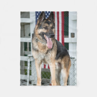 German Shepherd Dog Fleece Blanket