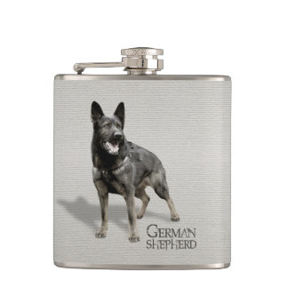 German Shepherd Dog  - GSD Hip Flask
