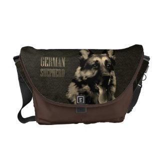 German Shepherd dog - GSD Portrait Messenger Bag