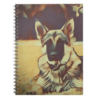 German Shepherd Dog Hackibus  #2 Notebook