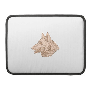 German Shepherd Dog Head Mono Line Sleeve For MacBook Pro