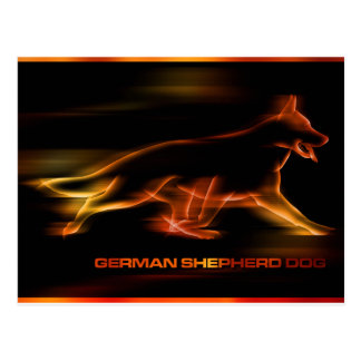 German Shepherd Dog in Motion Postcard