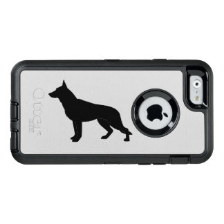 German Shepherd Dog in Silhouette OtterBox Defender iPhone Case