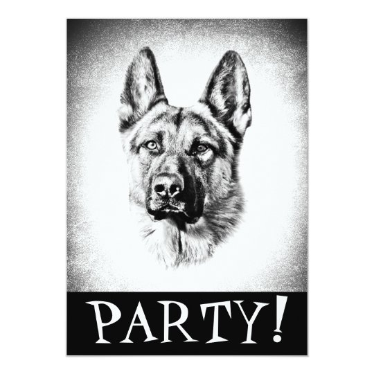 German Shepherd dog Invitation