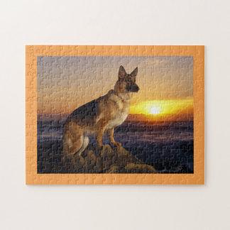 German shepherd dog jigsaw puzzle