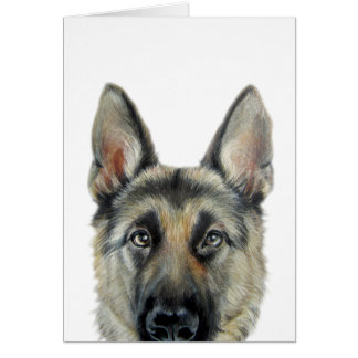 German Shepherd Dog, original by miart Card