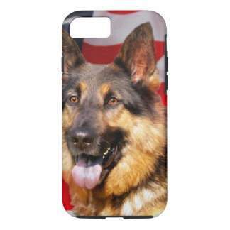 German shepherd Dog Patriot Red Blue White iPhone 8/7 Case