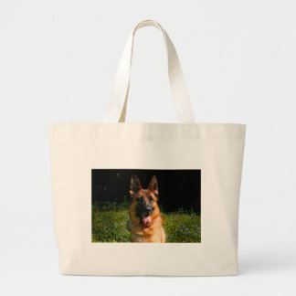 German Shepherd Dog Pet Large Tote Bag