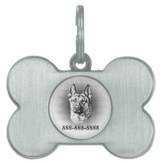 German Shepherd Dog Pet Name Tag
