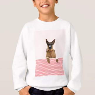 German Shepherd Dog Pink Polka Dots Sweatshirt