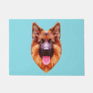 German Shepherd Dog Portrait Doormat