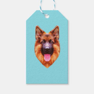 German Shepherd Dog Portrait Gift Tags