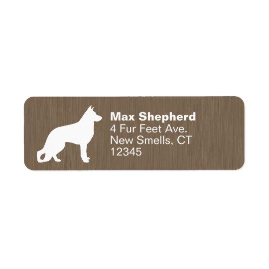 German Shepherd Dog Silhouette Return Address Label