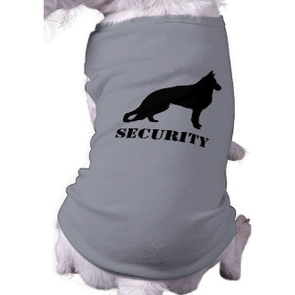German Shepherd Dog Silhouette with Text Sleeveless Dog Shirt