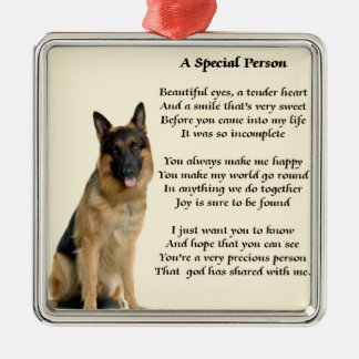 German Shepherd Dog - Special Person Poem Metal Ornament