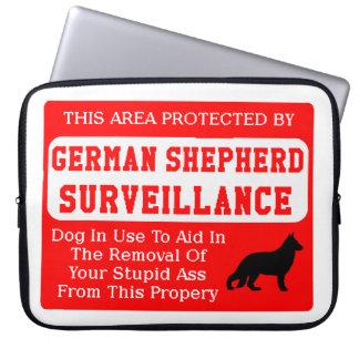 german shepherd dog surveillance laptop sleeve
