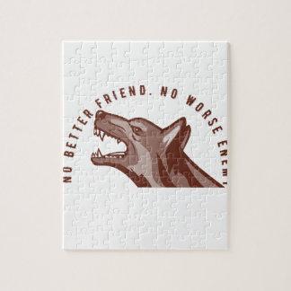 German Shepherd Dog Text Jigsaw Puzzle