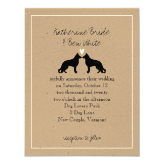 German Shepherd Dogs Wedding Invitation