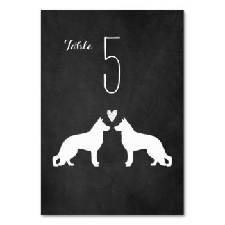 German Shepherd Dogs Wedding Table Card