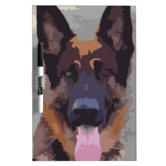 German shepherd dry erase board