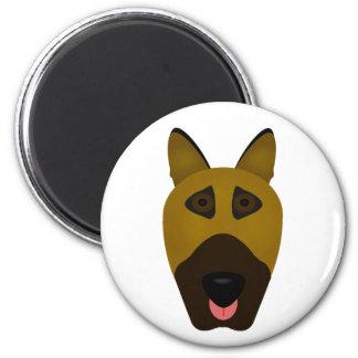 German Shepherd emoji magnet