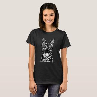 German Shepherd Face Graphic Art T-Shirt