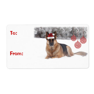 German Shepherd Gift Labels
