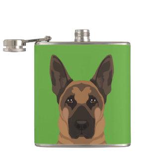 German Shepherd Hip Flask