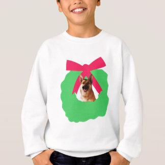 German Shepherd Holiday Christmas Wreath Sweatshirt