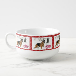 German Shepherd Holiday Soup Mug