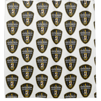 German Shepherd I Just Want To Drink Beer Shower Curtain