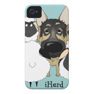 German Shepherd - iHerd iPhone 4 Case-Mate Cases