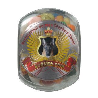 German Shepherd Jelly Belly™ Glass Jar Gift
