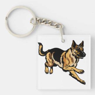 german shepherd key ring