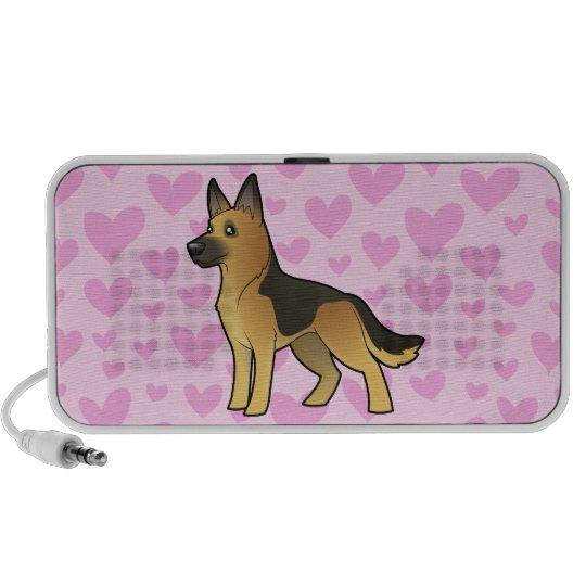 German Shepherd Love (add your own pattern) iPhone Speakers