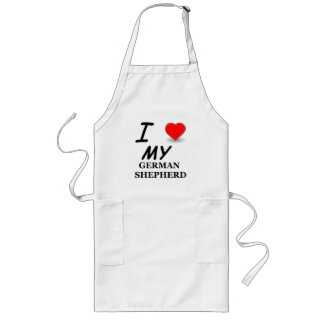 german shepherd love long apron