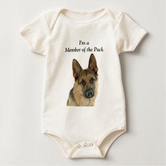 German Shepherd Lover's Delight Baby Bodysuit