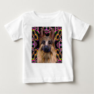 German Shepherd Mardi Gras Baby T-Shirt
