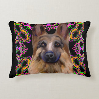 German Shepherd Mardi Gras Decorative Cushion
