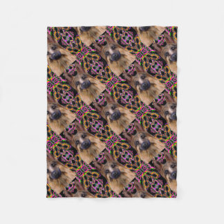 German Shepherd Mardi Gras Fleece Blanket