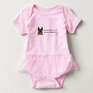 german shepherd-more breeds baby bodysuit