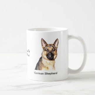 German Shepherd Mug - With two images and a motif