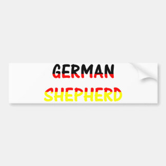 german shepherd name in flag bumper sticker