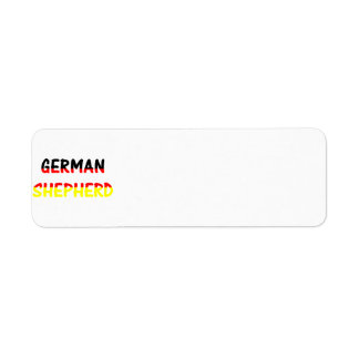 german shepherd name in flag return address label