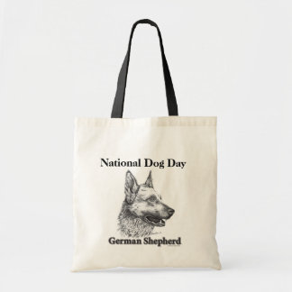 German Shepherd National Dog Day Budget Tote Bag