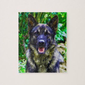 German Shepherd Oil Painting Portrait Jigsaw Puzzle