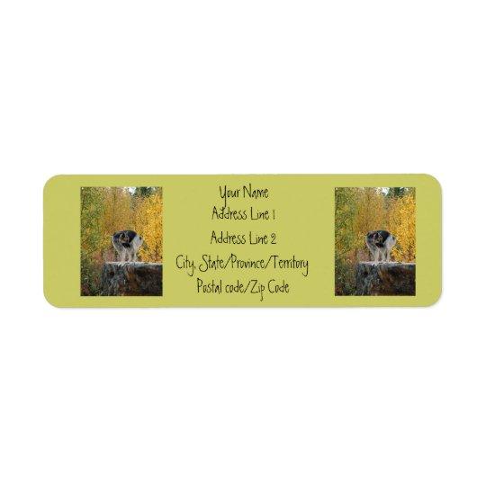 German Shepherd on a Rock Return Address Label