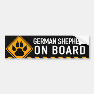 German Shepherd On Board Bumper Sticker