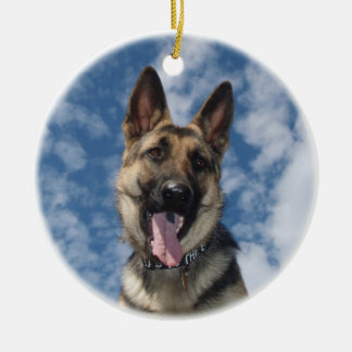 GERMAN SHEPHERD ORNAMENT CHRISTMAS