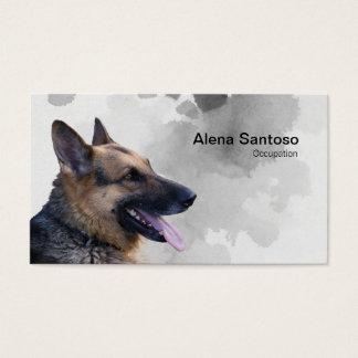 German Shepherd Painting Business Card